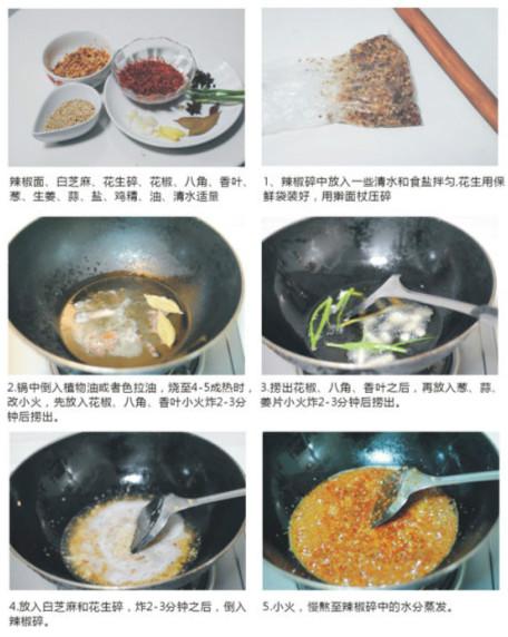泡菜拌料辣椒红油-各地不同民族的美味辣椒油的做法