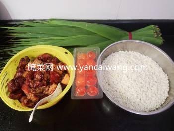 自制咸蛋黄鲜肉粽子的方法(附组图)