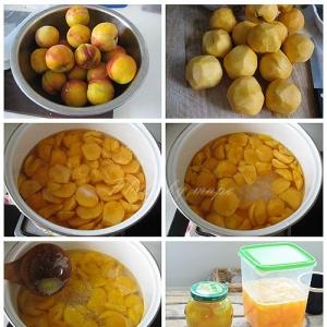 家庭自制黄桃罐头