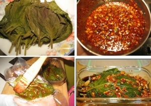 酱腌新鲜苏子叶的方法