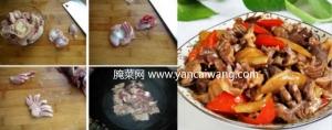 榨菜鸡胗的做法